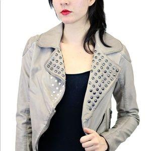 Black Sheep Women's Studed Jacket Moto Style